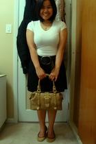 Suzy Shier shirt - Old Navy belt - skirt - Celine purse - shoebox shoes