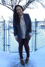 Maroon-forever-21-leggings-charcoal-gray-urban-planet-blazer