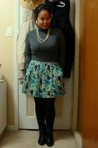 Mexx top - Kismet skirt - Divi accessories - Vero Moda leggings - Sirens boots