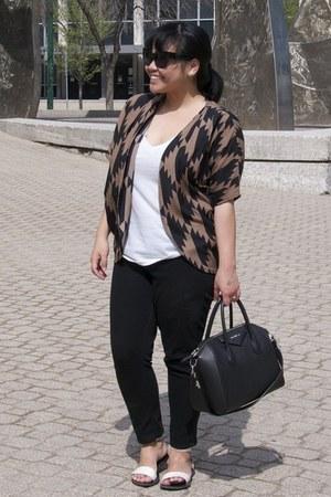 black Givenchy bag - black Forever 21 sunglasses - white TNA t-shirt