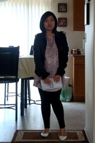 Suzy Shier jacket - Kamiseta dress - Vero Moda leggings - Ardene shoes - Divi pu
