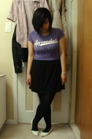 Aeropostale t-shirt - skirt - Ardene tights - shoes -