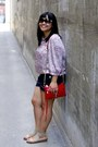Red-rebecca-minkoff-bag-navy-joe-fresh-style-shorts-black-chanel-sunglasses
