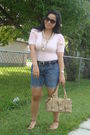 Pink-forever-21-top-blue-old-navy-shorts-gold-divi-shoes-gold-divi-siren