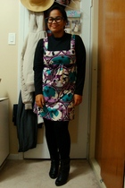top - Kismet dress - Vero Moda tights - Sirens boots