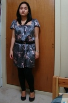 urban behavior dress - Suzy Shier belt - leggings - Celine shoes