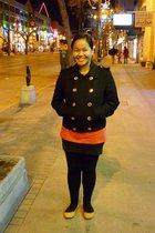 joe fresh style jacket - team manila t-shirt - Divi skirt - Vero Moda leggings -