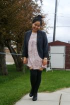 pink Kamiseta dress - gray Dynamite blazer - gray Ardene socks - black Aldo shoe