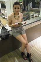 H&M top - Topshop shorts - acne shoes - vivienne westwood accessories - necklace
