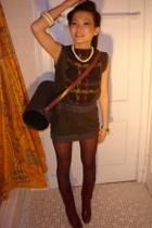 dress - accessories - boots