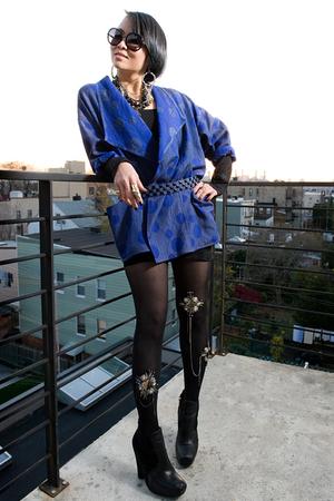 jacket - H&M skirt - tights - sam edelman shoes - Zara belt - necklace