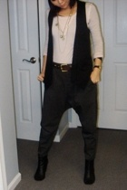 Diesel top - Zara pants - Zara vest - belt - f21 necklace