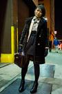 Black-h-m-skirt-black-sam-edelman-shoes-brown-vintage-givenchy-accessories-