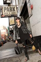 Zara t-shirt - H&M jeans - shoes - accessories - Zara jacket - necklace