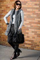 black sunglasses - black a wang accessories - black shoes - black Rebecca Minkof