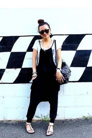 Zara t-shirt - pants - shoes - vivienne westwood accessories - H&M sunglasses -