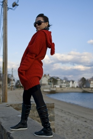 sweater - Express tights - Puma shoes - christian dior sunglasses