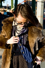 Brown-vintage-coat-blue-blazer-blue-vintage-vest-beige-diesel-shirt-blac
