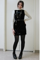 dress - belt - forever 21 necklace - Nine West shoes