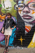 H&M jacket - dress - shoes - accessories - H&M scarf - leggings