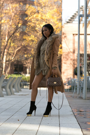 windsor jacket - Charlotte Olympia boots - asos coat - Louis Vuitton bag