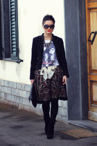 black Zara jacket - white myt-shirt t-shirt