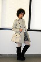 camel leopard print H&M dress - black suede Primadonna boots