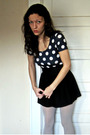 Blue-topshop-top-black-forever-21-skirt-gray-target-tights
