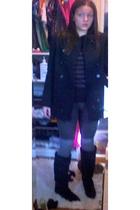 calvin klein coat - forever 21 sweater - forever 21 pants - forever 21 socks - C