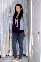 scarf - Old Navy sweater - American Apparel top - forever 21 jeans - H&M shoes -