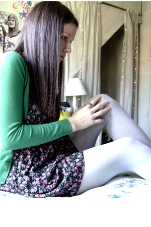 H&M sweater - La Belle dress - Target tights - from grandmother accessories