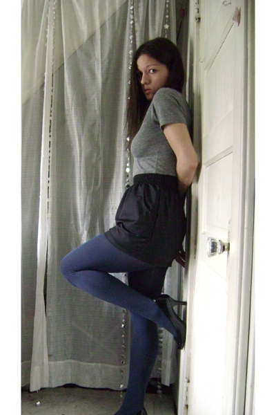 American Apparel t-shirt - American Apparel skirt - Urban Outfitters tights - Ch