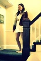 Gap coat - American Apparel dress - Goodwill belt - simply vera wang stockings -
