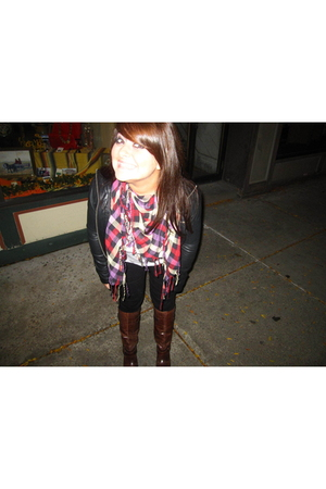 Forever 21 scarf - Aldo boots - Forever 21 jacket