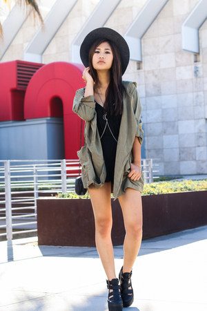 light parka Tobi jacket - Nasty Gal romper - Topshop pumps