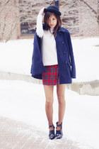 peacoat madewell coat - Nasty Gal hat - turtleneck Aritzia sweater - Zara bag
