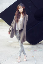 long cardigan vince jacket - pins and needles blouse - Stylenanda pants