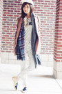 Striped-jeans-madewell-jeans-baseball-hat-madewell-hat-plaid-zara-scarf