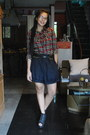 Dark-gray-my-dads-shorts-parisian-jr-wedges-american-boulevard-top-soulier