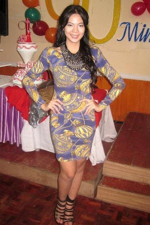 blue belle dress - Cosmopolitan necklace - shoes