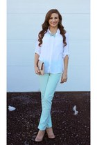 aquamarine mint jeans