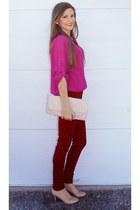 ruby red skinny TJ Maxx pants