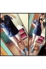 Artwork-shoes-bershka-shorts-hudson-blouse