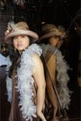 Bronze-dress-bronze-lucban-hats-hat-white-feather-boa-scarf-off-white-neck