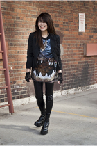 Topshop shirt - vintage boots