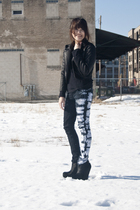 black BCBG boots - black from bangkok jacket - blue Kill City jeans