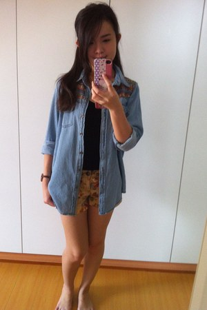 Forever 21 shorts - coat - Forever 21 top