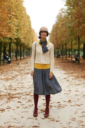 tights - top - dress - hat - sweater - shoes