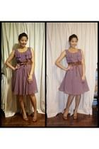 chiffon H&M dress - H&M belt