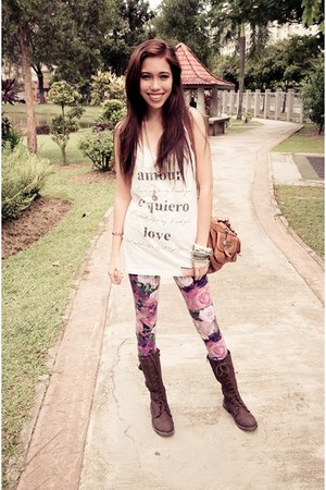 Forever 21 boots - Forever 21 leggings - Forever 21 accessories - Forever 21 top